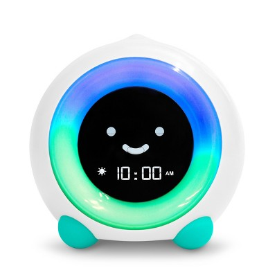 MELLA Ready To Rise Children's Sleep Trainer Night Light and Sleep Sounds Machine Alarm Clock Tropical Teal - LittleHippo