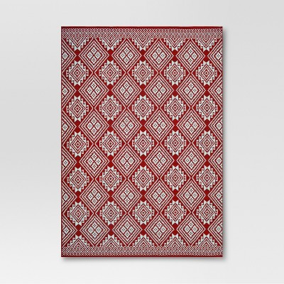 Global Grid Red Outdoor Rug - 9'x12' - Threshold™