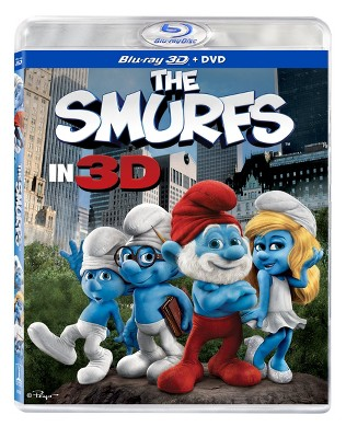 The Smurfs in 3D (3D + 2D) (Blu-ray + DVD + Digital)