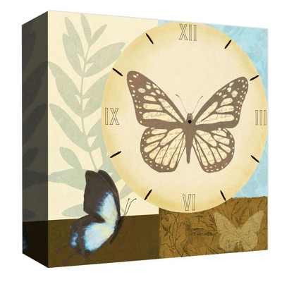 "16"" x 16"" Butterfly Clock Decorative Wall Art - PTM Images"