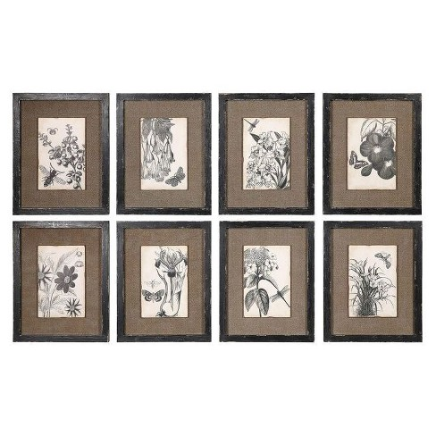 Framed Burlap Wall Décor (8 pack) - 3R Studios - image 1 of 1