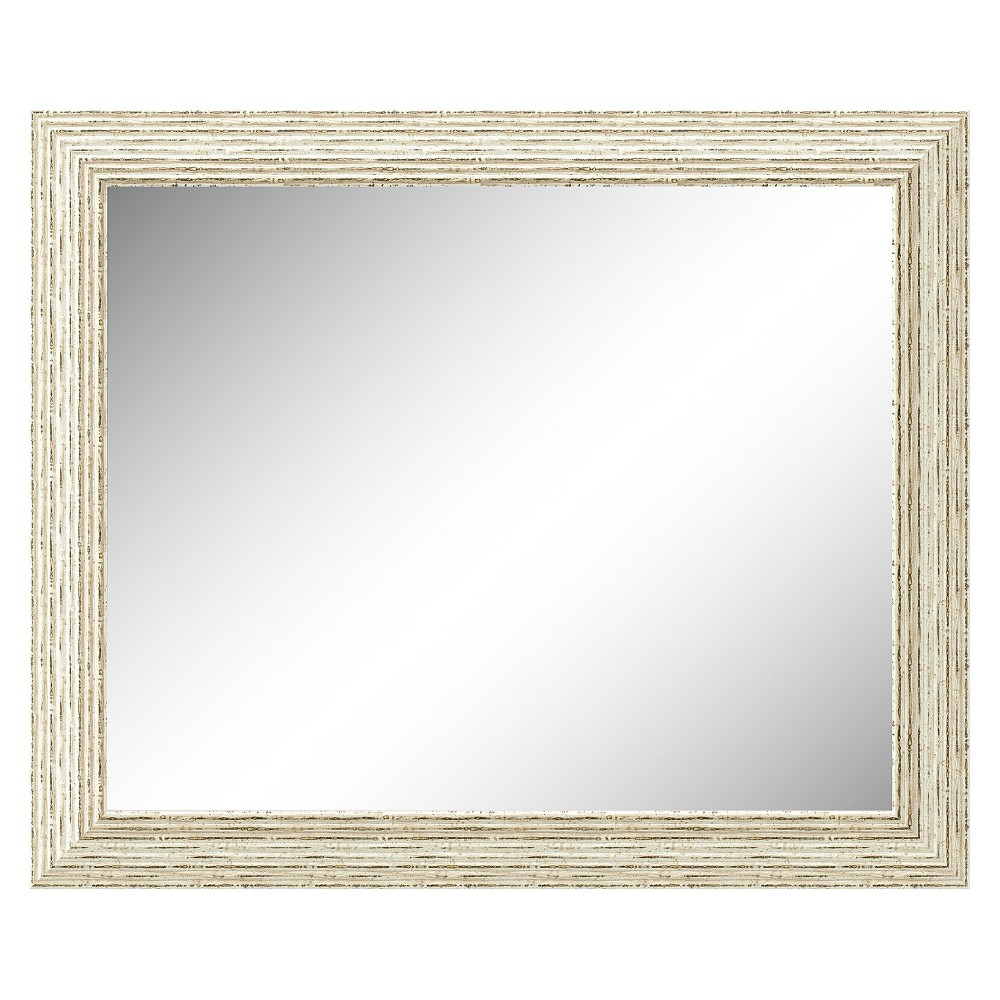 Image of Rectangle Cape Cod Decorative Wall Mirror White - Amanti Art