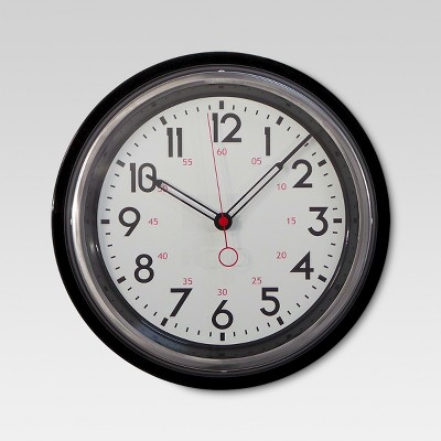 Schoolhouse 14  Wall Clock Black - Threshold™