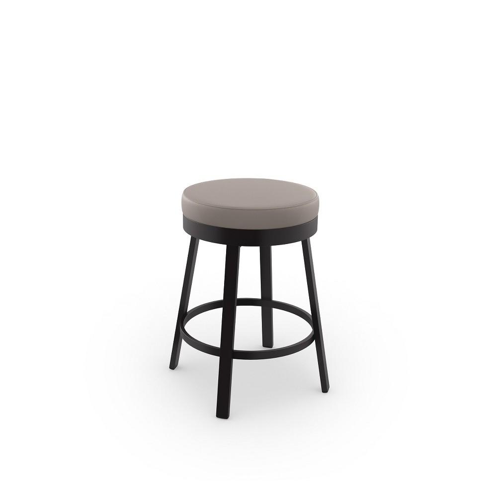 Superb Amisco 30 Clock Bar Stool Gray Brown Gray Brown Creativecarmelina Interior Chair Design Creativecarmelinacom