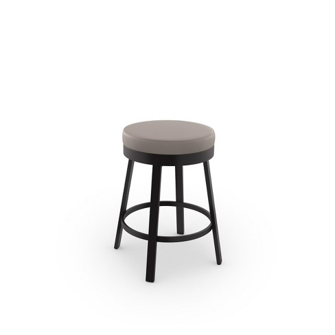 """Amisco Clock 26"""" Counter Stool with Upholstered Seat - image 1 of 2"""