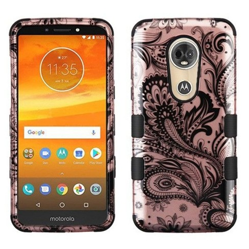 MYBAT For Motorola Moto E5 Plus/E5 Supra Rose Gold Phoenix Flower Hard Hybrid Case - image 1 of 4