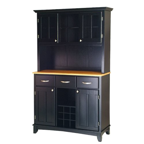 Buffet with 2 Door Hutch Wood/Black/Natural - Home Styles