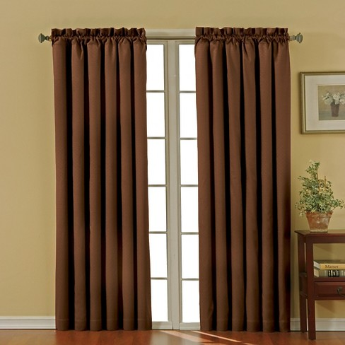 "Eclipse Thermaback Canova Blackout Curtain Panel - Chocolate (42""x84"") - image 1 of 3"