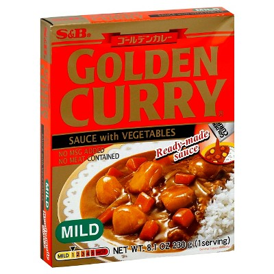 S&B Golden Curry Vegetables with Sauce Mild - 8.1oz
