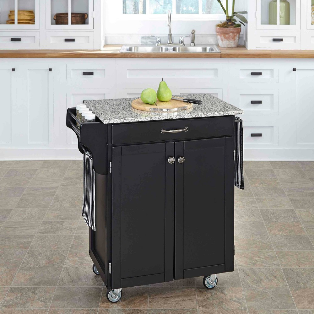Kitchen Carts And Islands with Granite Top Black - Home Styles, Gray