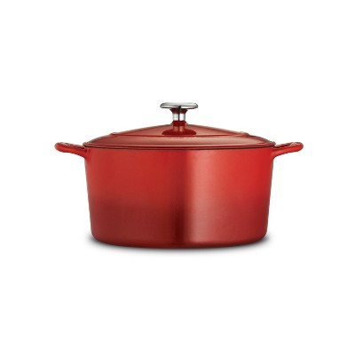 Tramontina Gourmet 6.5qt Enameled Cast Iron Round Dutch Oven with Lid Red
