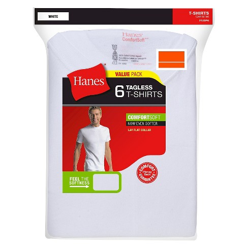 89f493422a Hanes® Men's 6Pk Crew Neck T-Shirts With Fresh IQ - White : Target