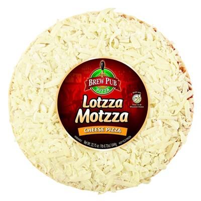 Brew Pub Lotzza Motzza Cheese Frozen Pizza - 22.75oz