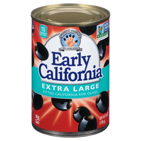 Early California Extra Large Pitted Ripe Olives - 6oz - image 1 of 1