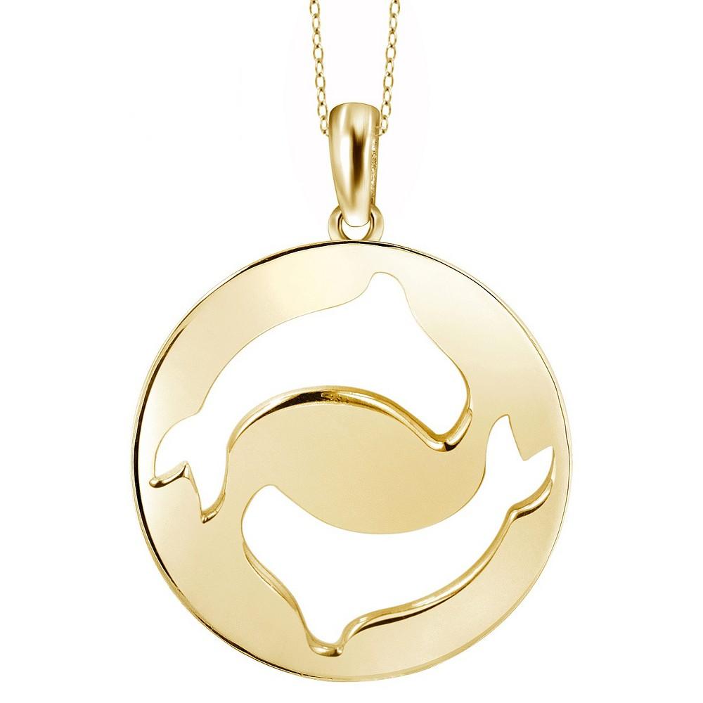 Women's Pisces Zodiac Pendant (18), Yellow