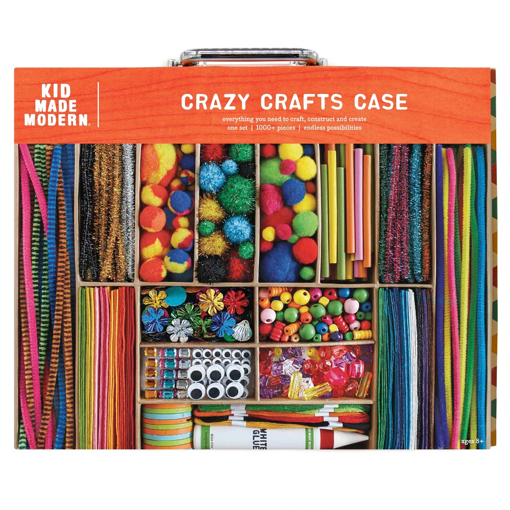 Kid Made Modern Art Kit - Smarts and Crafts Case, Blue Let your kids revel in the fun of being creative with the Smarts and Crafts Case Art Kit from Kid Made. This craft supply kit is filled with more than 1,000 pieces — in a divider case for easy organization — for all of their craft projects. They'll love exploring the wide variety of craft supplies in the craft kit. Color: Blue. Gender: Unisex.