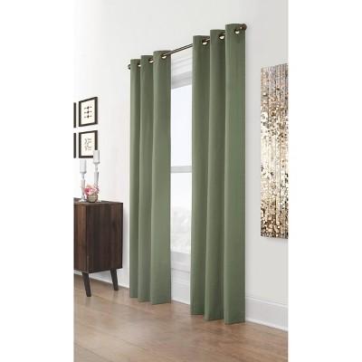 Set of 2 Weathermate Grommet Top Room Darkening Curtain Panels - Thermalogic