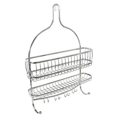 York Lyra Jumbo Shower Caddy Silver - InterDesign