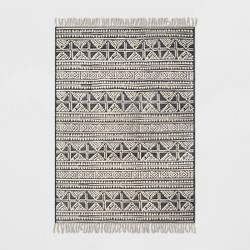Tasseled Outdoor Rug Charcoal - Opalhouse™