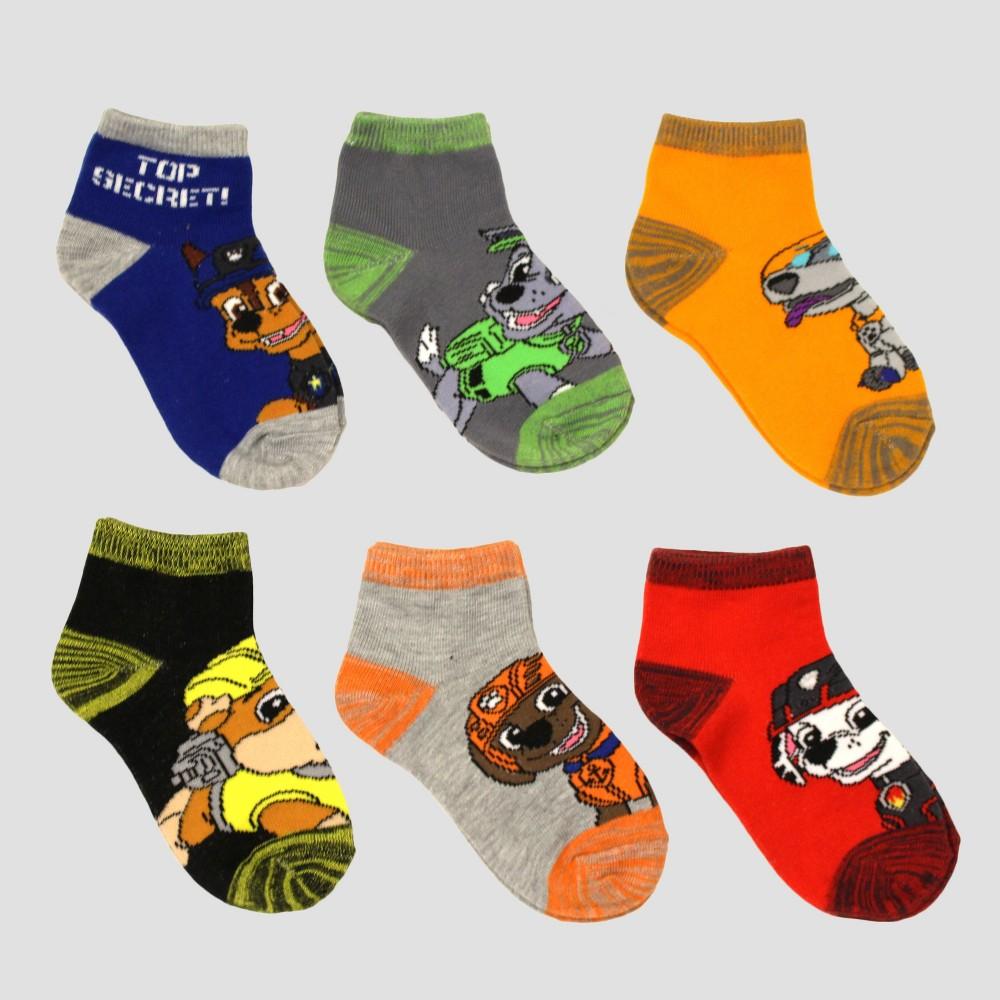 Image of Boys' PAW Patrol 6pk Socks - Cobalt Blue M, Boy's, Size: Medium