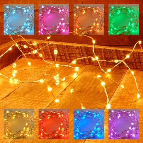 2ct battery operated submersible mini string lights led with remote control 2 timers lumabase target