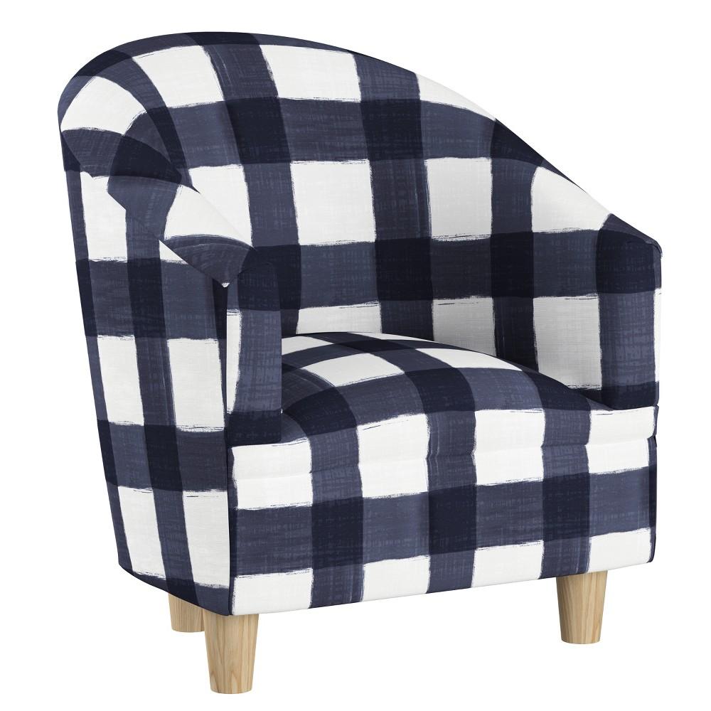 Kid's Kingston Tub Chair Blue Plaid - Cloth & Co.