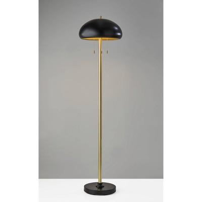 Cap Floor Lamp Black - Adesso