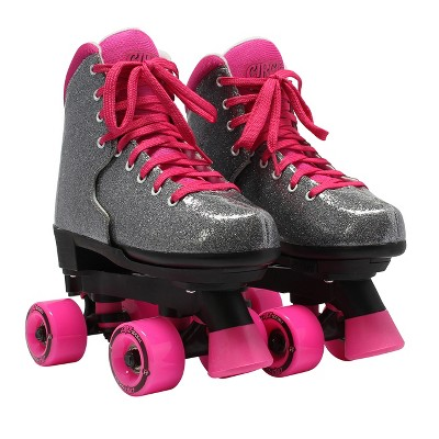 Circle Society Adjustable Skate - Bling Sizzling Pink 3-7