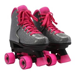 Circle Society Adjustable Skate - Bling Sizzling Pink 3-7