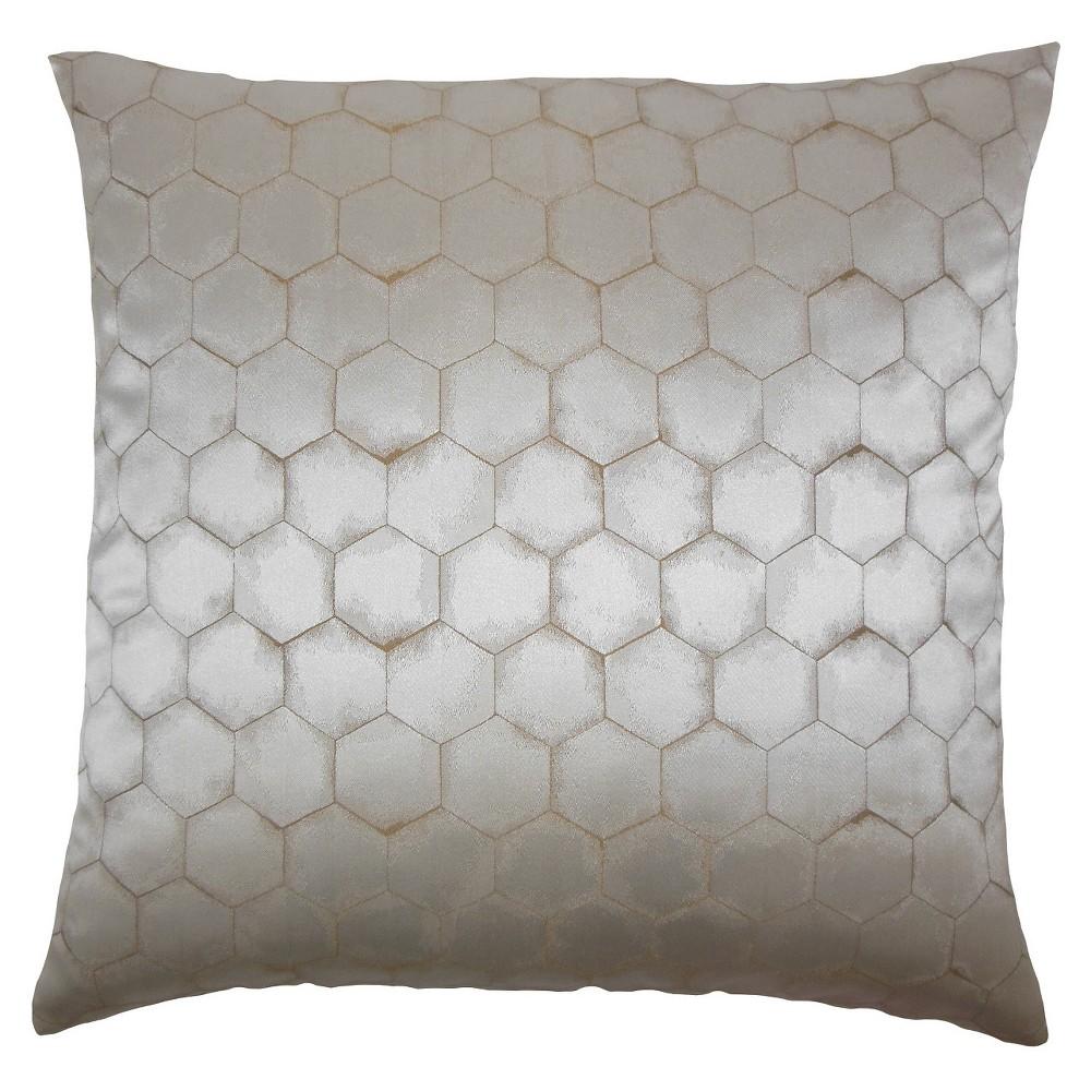 Gray Stripe Square Throw Pillow (20
