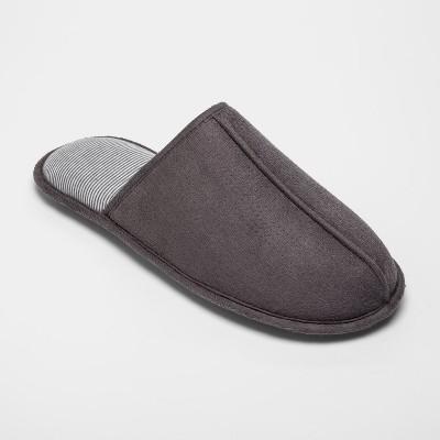 Men's Microfiber Scuff Slide Slippers - Goodfellow & Co™ Gray S(7-8)