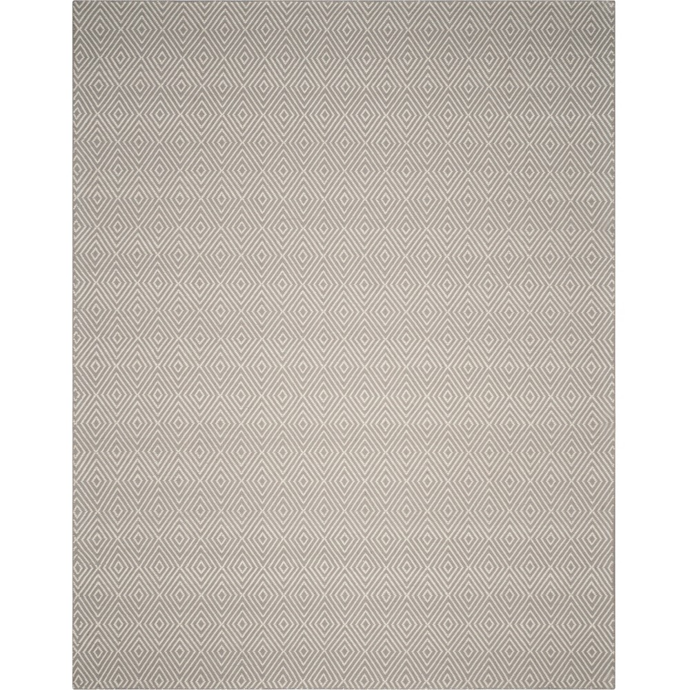 8'X10' Solid Hooked Area Rug Silver/Ivory - Safavieh