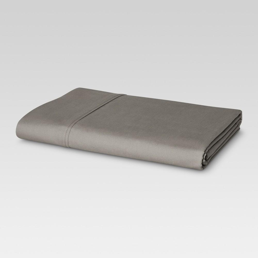 Ultra Soft Flat Sheet (Twin) Gray 300 Thread Count - Threshold Discounts