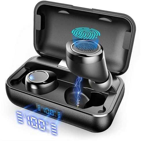 True Wireless Earbuds Vankyo X200 Bluetooth 5 0 Earbuds In Ear Tws Stereo Headphones With Smart Led Display Charging Case Ipx8 Waterproof 120h Playtime Built In Mic With Deep Bass Target