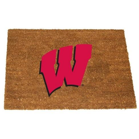 NCAA University of Wisconsin Colored Logo Door Mat - image 1 of 1