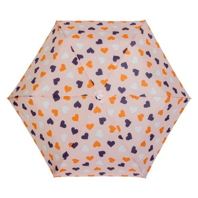 Cirra by ShedRain Hearts Compact Umbrella - Light Pink