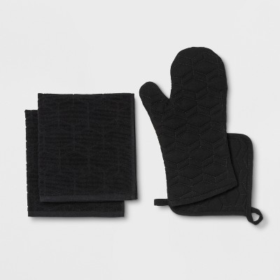Black Kitchen Textile Set - Room Essentials™