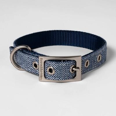 Metal Buckle with Adjustable Dog Collar - Blue Tweed - Boots & Barkley™