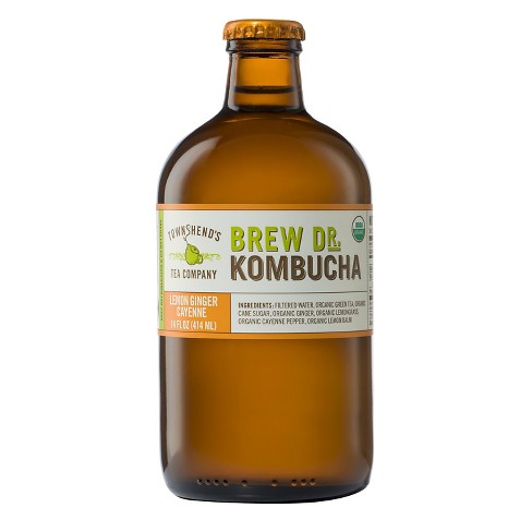 Brew Dr Lemon Ginger Cayenne Kombucha 14 oz - image 1 of 1