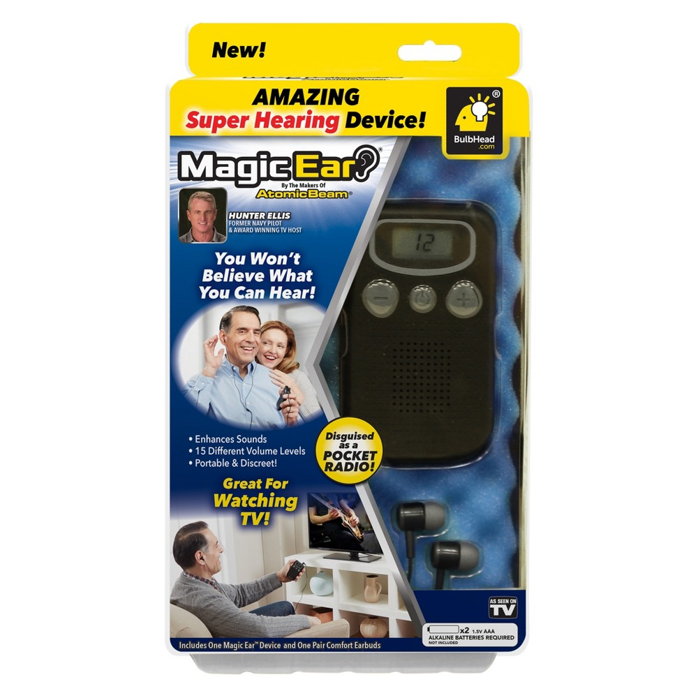 As Seen on TV Atomic Magic Ear Hearing Aid Device, Black