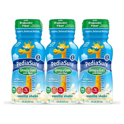 PediaSure Grow & Gain with Fiber Kids' Nutritional Shake Vanilla - 6 ct/48 fl oz