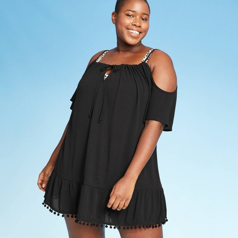 Cover 2 Cover  Women's Plus Size Cold Shoulder Cover Up Dress - image 1 of 2