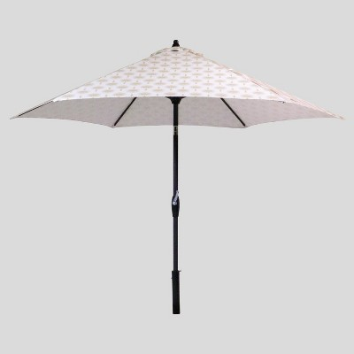 9' Round Palm Print Patio Umbrella - Black Pole - Threshold™