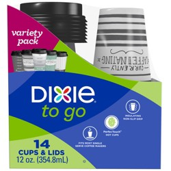Dixie To Go Hot Disposable Cups & Lids - 12oz