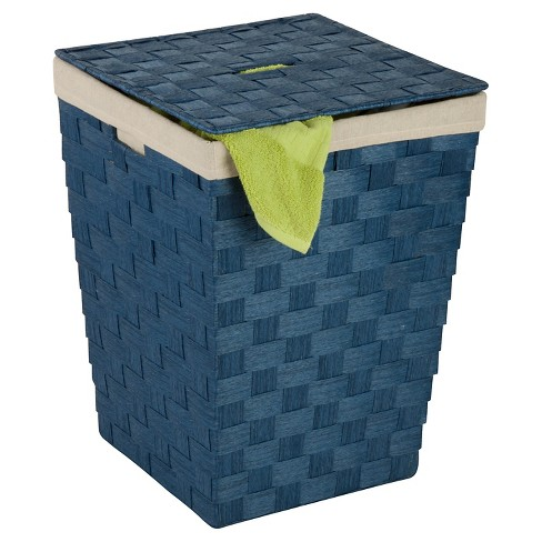 Honey-Can-Do Paper Rope Hamper - Blue - image 1 of 1