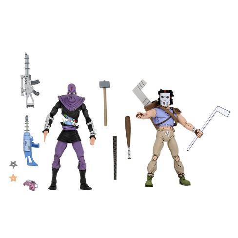 "Teenage Mutant Ninja Turtles - 7"" Scale Action Figure - Cartoon Series 3 Casey Jones & Foot Soldier - image 1 of 3"