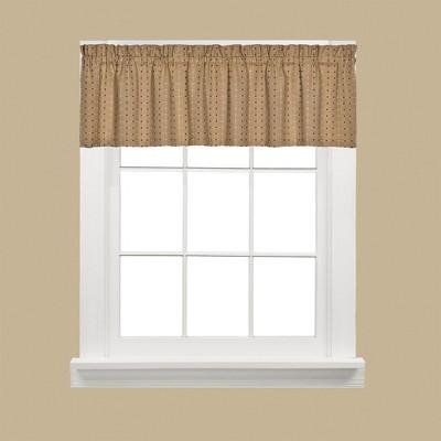 "Saturday Knight Ltd Hopscotch Collection High Quality Stylish Versatile & Modern Window Valance - 58x13"" Tan"