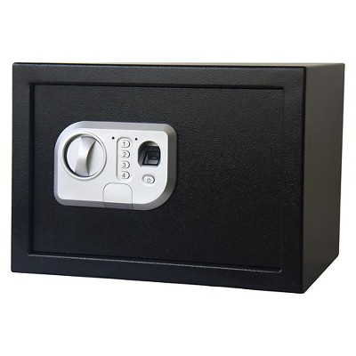 Stalwart Fingerprint Digital Steel Safe - Black