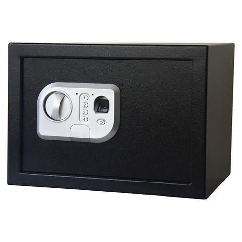 Stalwart Fingerprint Digital Steel Safe - Black - image 1 of 3