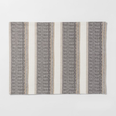 19 X14  Woven Textured Stripe Placemat Cream - Threshold™